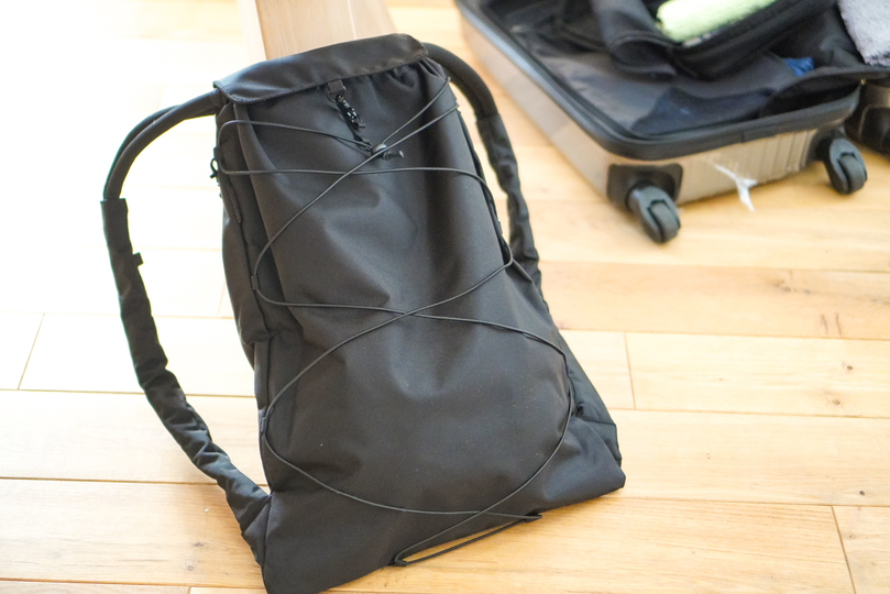 Photo of Knapsack type simple bag that seems to be active even when traveling!
