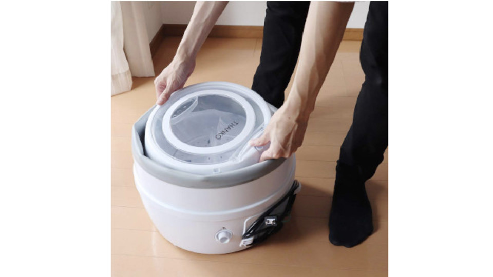 Photo of With a collapsible washing machine, separate washing is easy and storage is easy. I want to take it outdoors