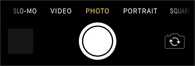 カメラのボタン画面