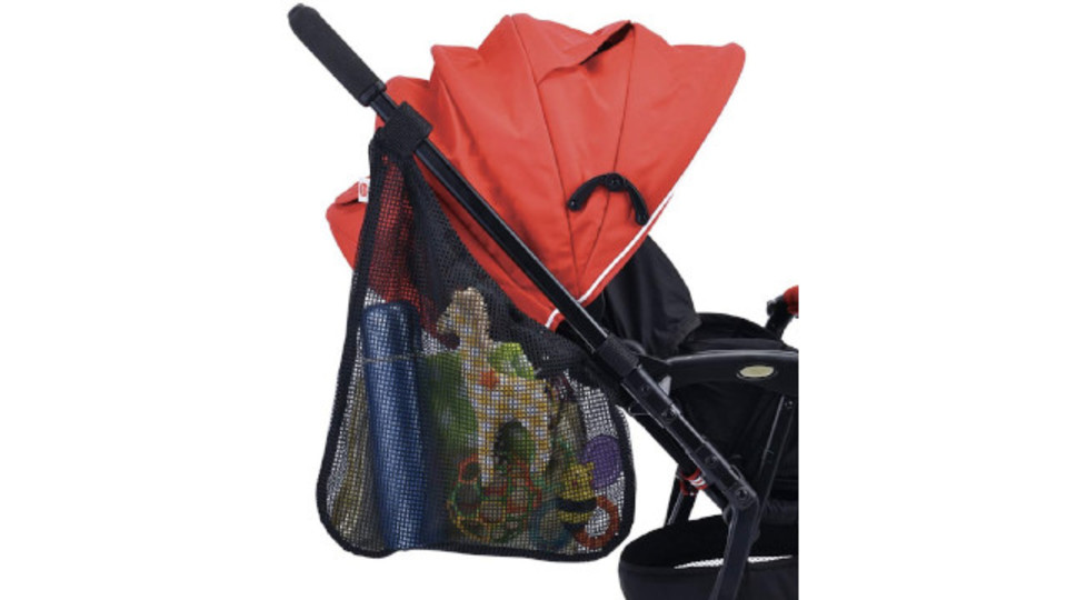Photo of It is easy to put on and take off, and it is easy to take out plenty of storage. Side pocket for stroller