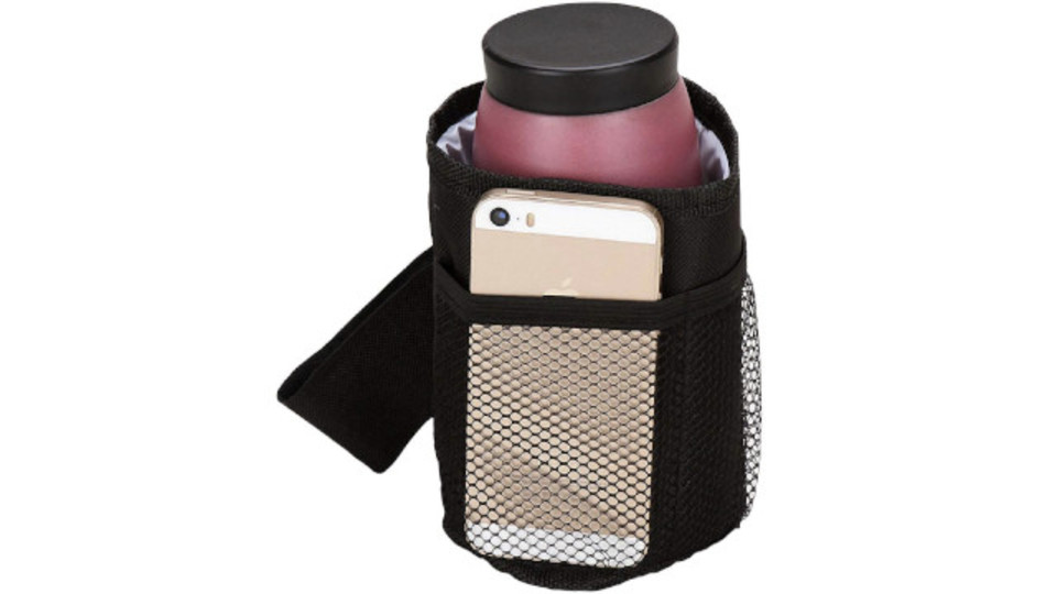 Photo of A bottle holder that can be carried on a stroller while the baby bottle is still warm. Smartphone can be stored and is convenient!