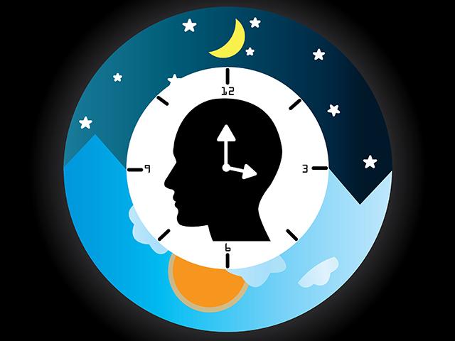 睡眠時間を表す時計