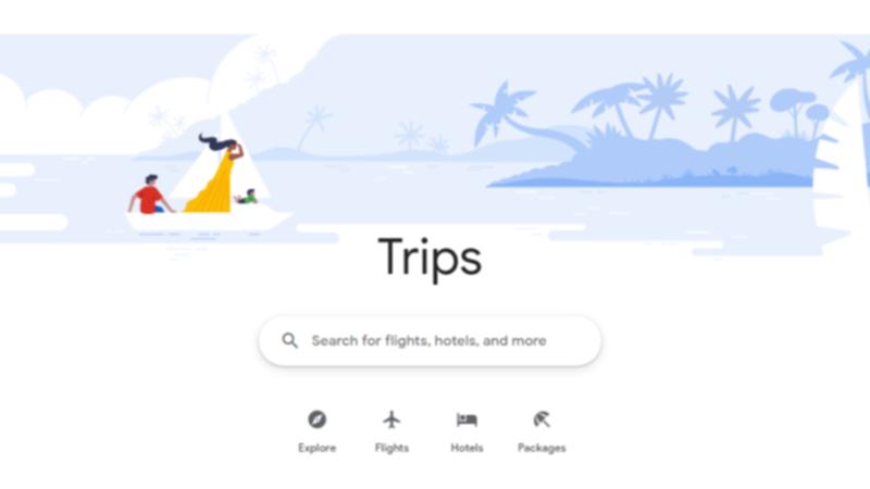 Googleトラベルの画面