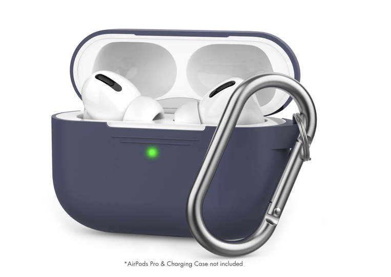 Photo of AirPods Pro silicone case for 900 yen. Wireless charging compatible with carabiner