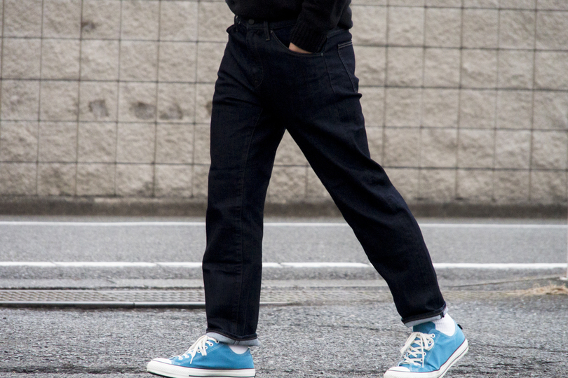 Photo of Uniqlo three-dimensional jeans are extremely comfortable and comfortable!