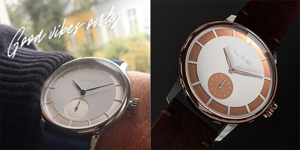 "Photo of It will be a simple and unique gift. Wrist watch ""LAB"" with engraving"