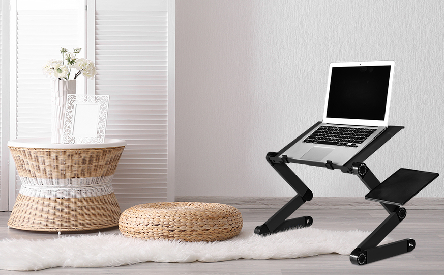 Photo of The floor and sofa are also as comfortable as a desk. Multifunctional notebook PC stand with cooling fan