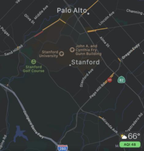 スタンフォード周辺のマップ