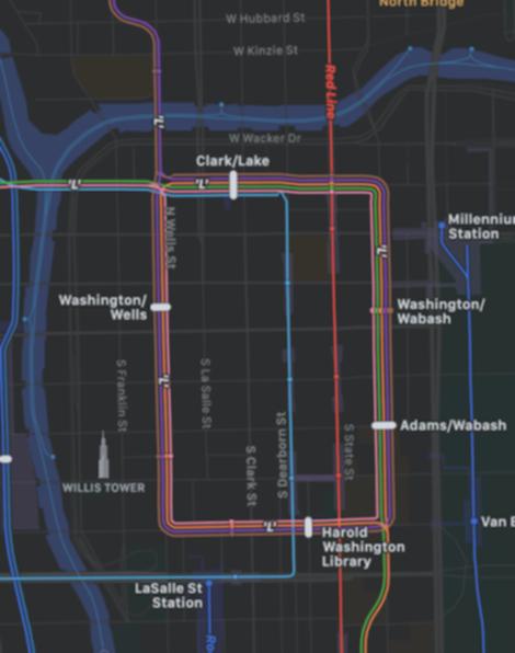 シカゴの交通機関の表示