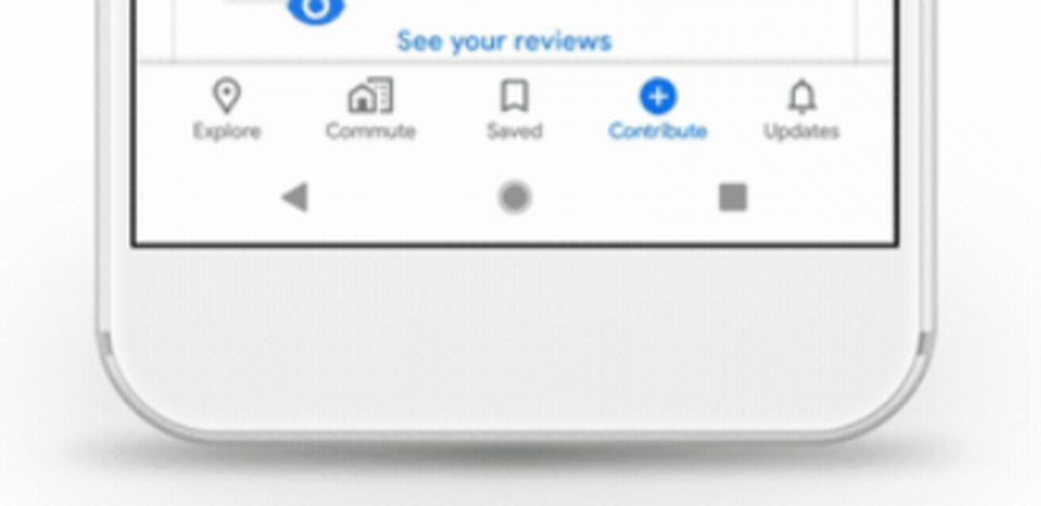Google Mapsの画面下部のスクリーンショット