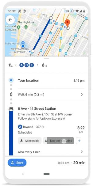 Google Mapsのスクリーンショット