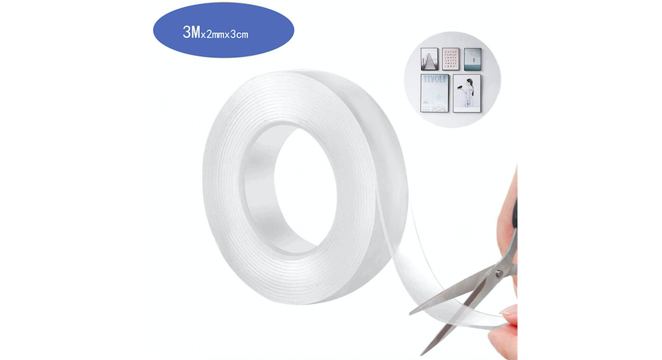 """Photo of """"Magic double-sided tape"""" that can be stuck on various materials and can be slip-proof and fixed"""