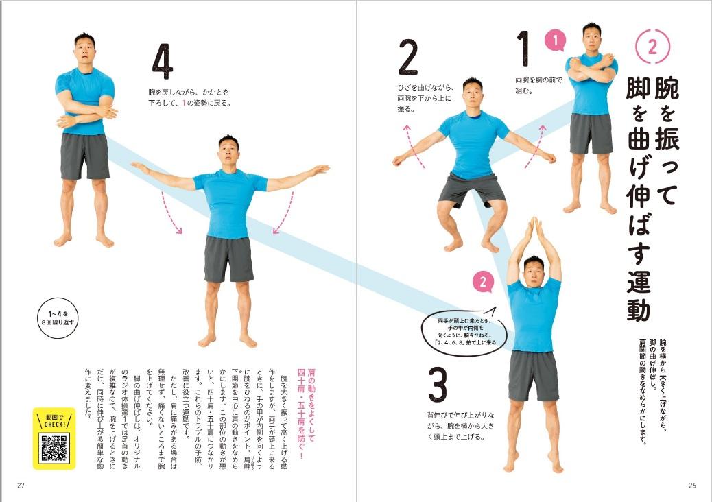 超ラジオ体操「腕を振って脚を曲げ伸ばす運動」