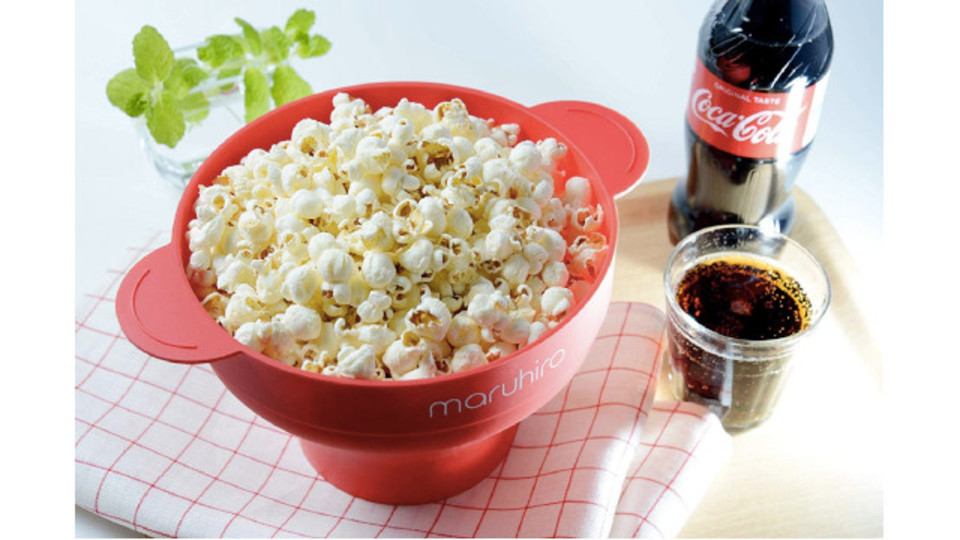 Photo of Microwave oven 2 minutes, can be made without oil! Compact popcorn maker
