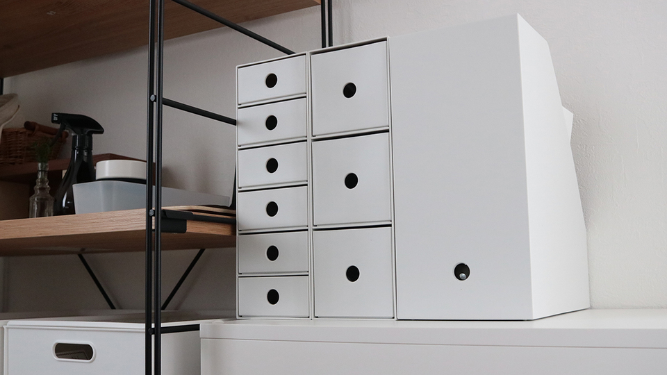 Photo of With an unmarked drawer-type storage box, small items can be organized quickly!