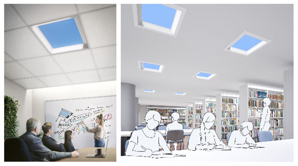 Photo of The open feeling is amazing! LED lighting that looks like a blue sky is coming from Mitsubishi Electric