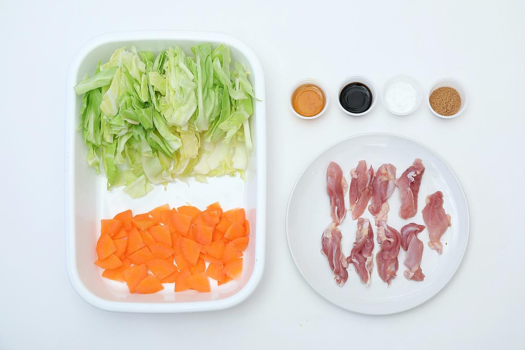 八宝菜風中華あんかけの材料