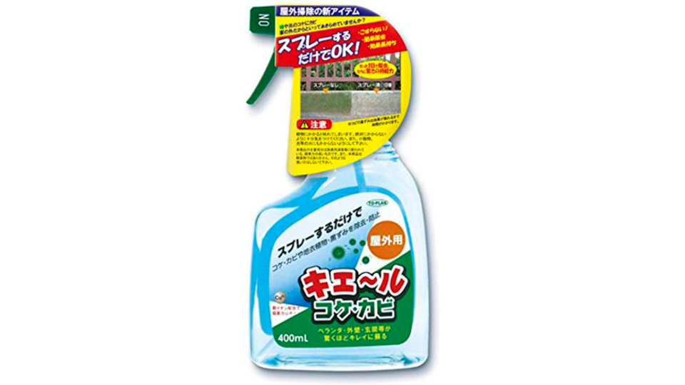 Photo of Just spray. Repels moss, mold and dark spots on verandas and entrances, and continues to prevent