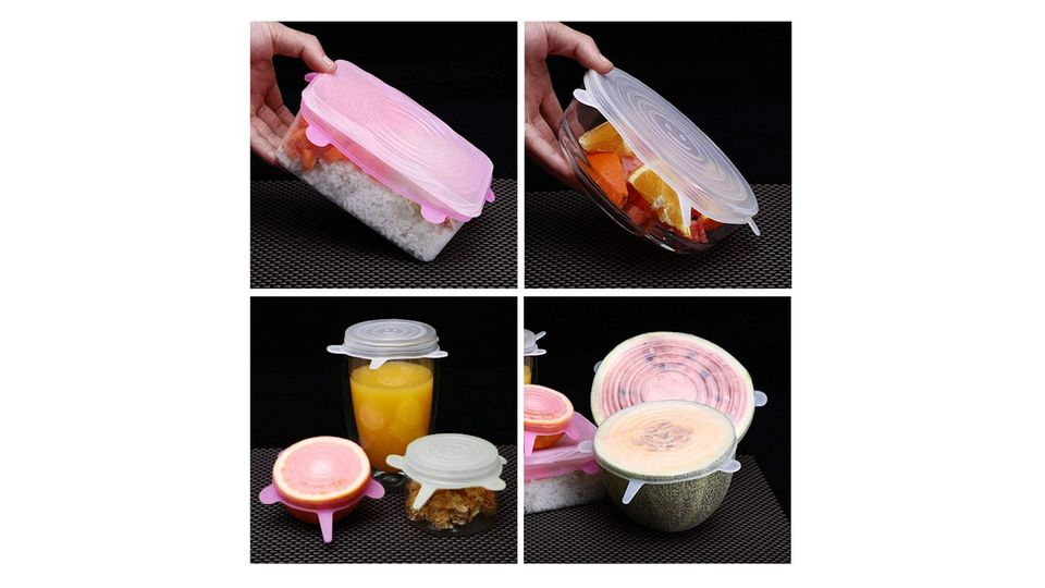 Photo of Silicone lid that can be repeatedly used in various containers instead of wrap, and can be boiled and frozen