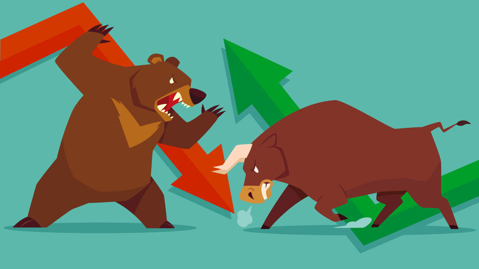 "Photo of Can you answer the current stock market, ""bull"" or ""bear""? 
