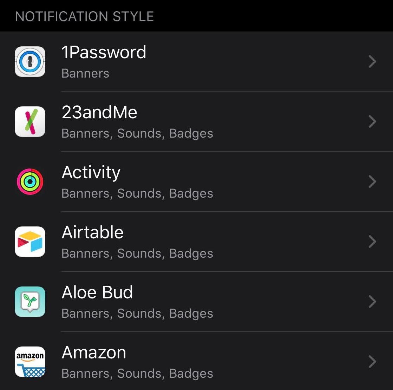 「iPhone」や「iPad」にインストールしたアプリの一覧画面