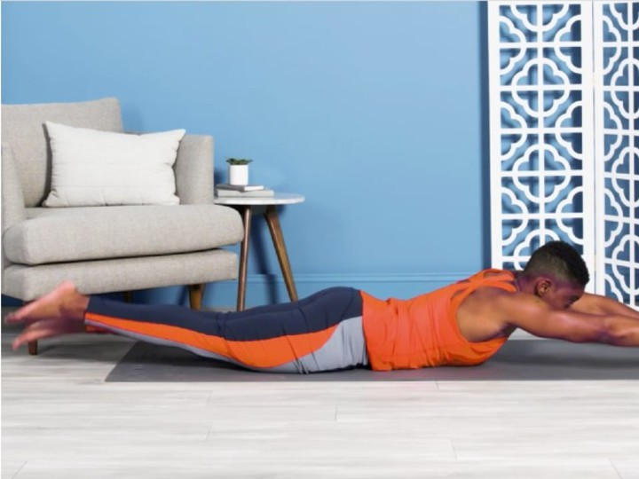 Photo of Basic Pilates pose to train your body just by flapping your limbs with your stomach