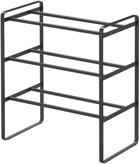 Photo of Simple and functional. Shoe rack that can expand and contract according to the number of shoes and can be stacked