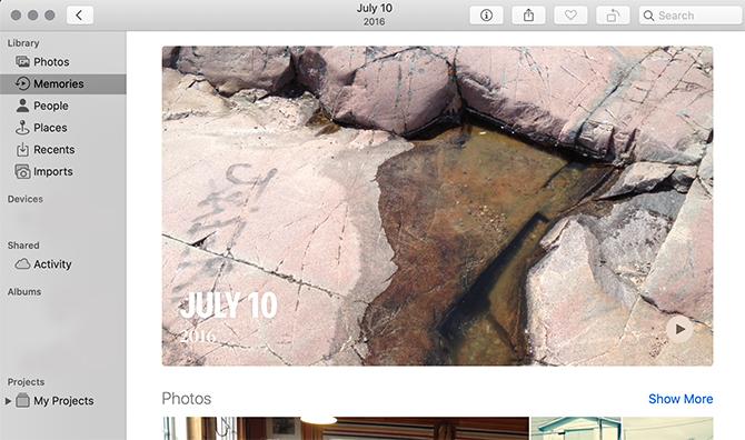 Macの写真アプリの画面