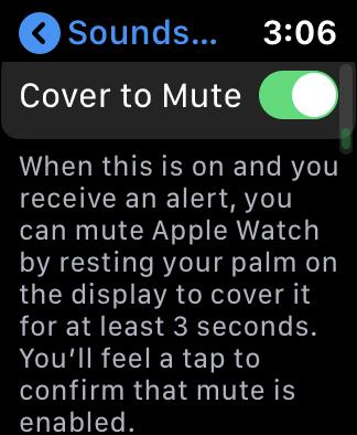 AppleWatchCoverToMute
