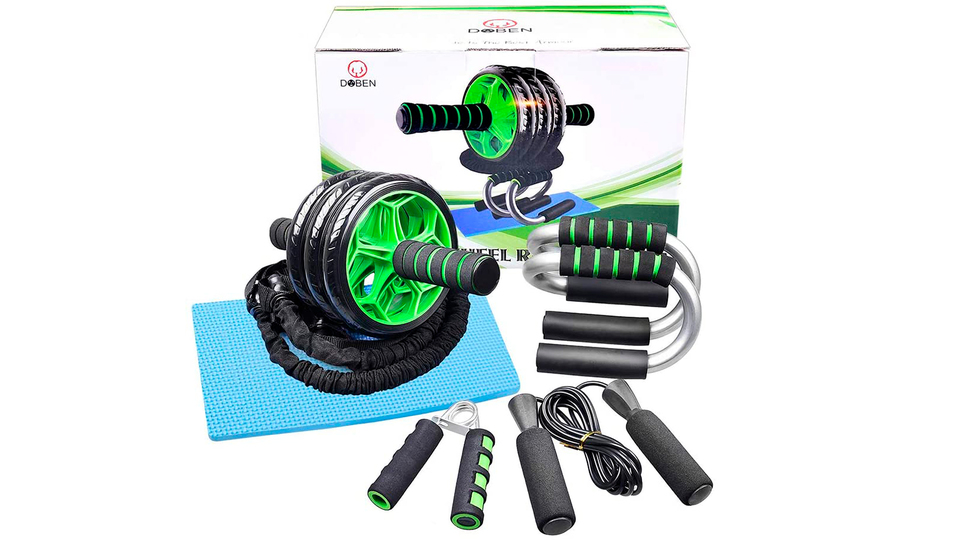 Photo of Eliminate stress and lack of exercise with the 6 abdominal roller set at the 2,000 yen level