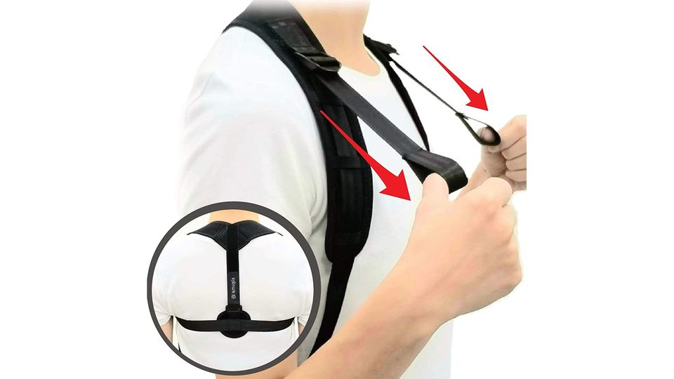 Photo of A straight back belt developed by Fitness Gym that can be worn easily and makes you feel crunchy