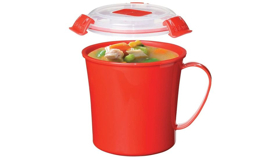 Photo of A mug with a lid that you can make soup with lentin and carry as it is. You can also make popcorn