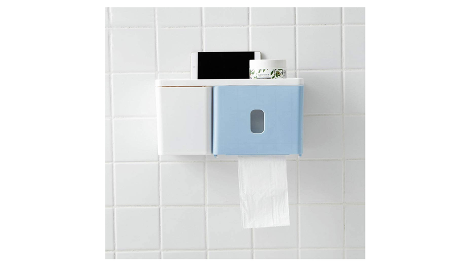 Photo of Waterproof toilet paper holder with storage that can hold a smartphone! Also active in the unit bath and kitchen