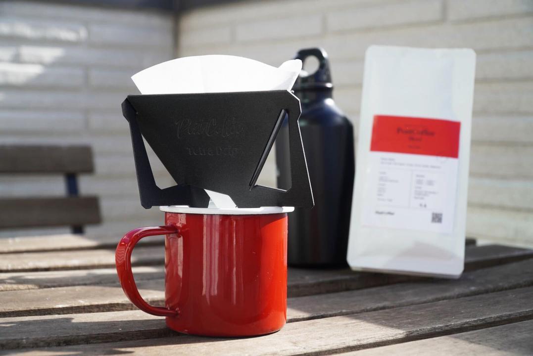 ベランダで飲むコーヒー