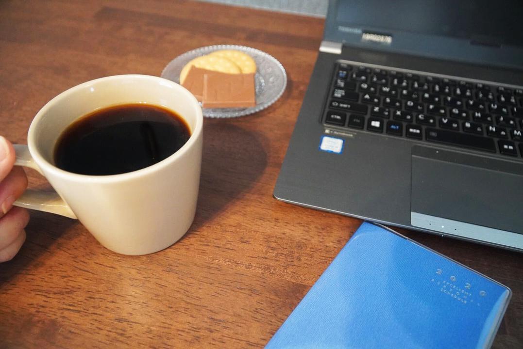 仕事中に飲むコーヒー