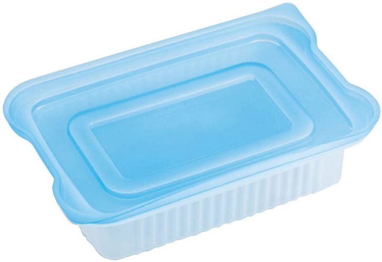 Photo of A container that holds one set of rice that can be refreshedly stacked and frozen. Chin is OK with the lid on