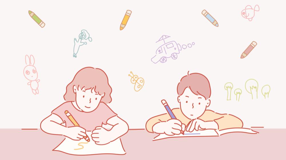 勉強をする子どもたち