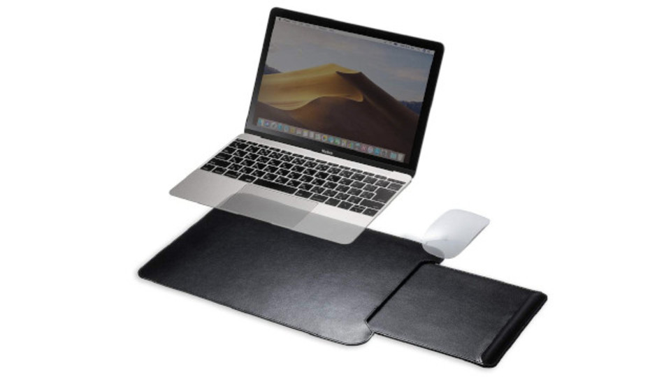 Photo of Ultra-thin and lightweight, knee-top table with built-in slide storage mouse holder