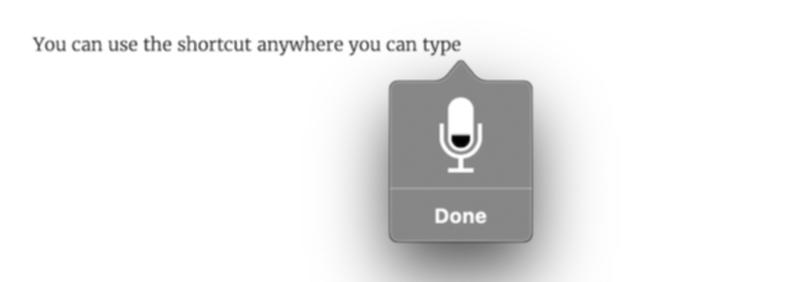 音声入力のマイクアイコンの表示