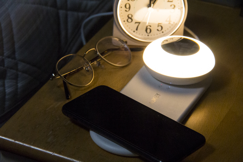 Photo of A wireless charger with a night light makes a big difference at the bedside