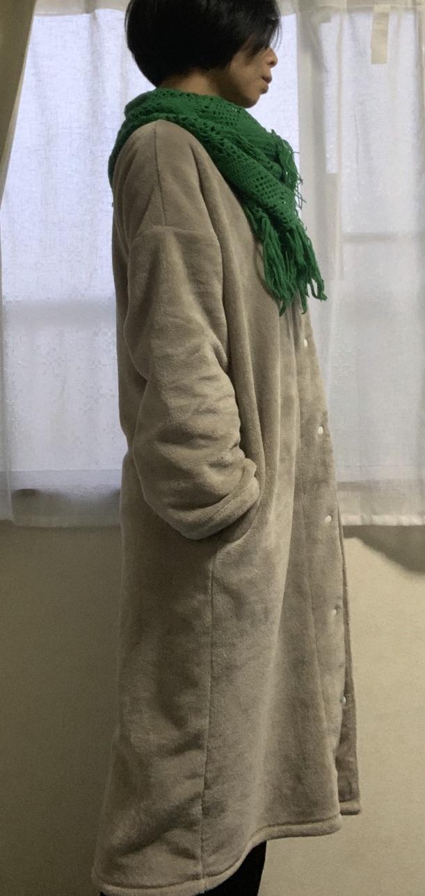無印 良品 着る 毛布
