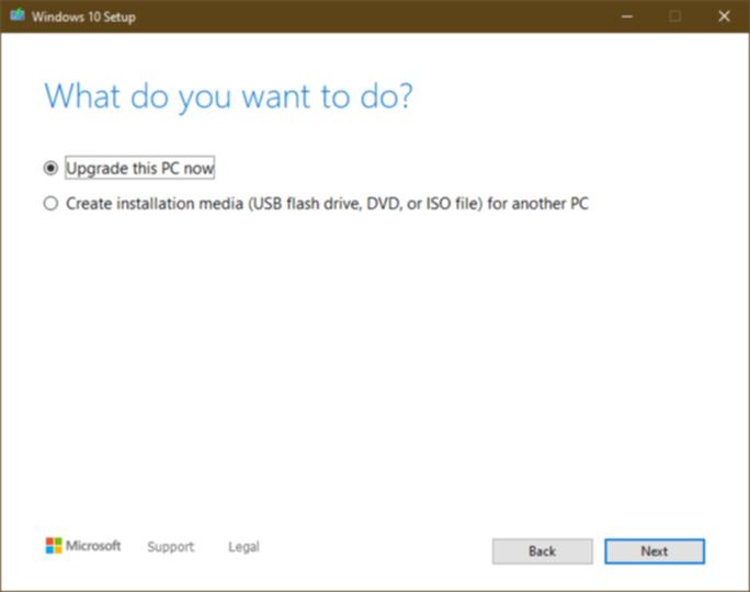 Windowsのセットアップ画面