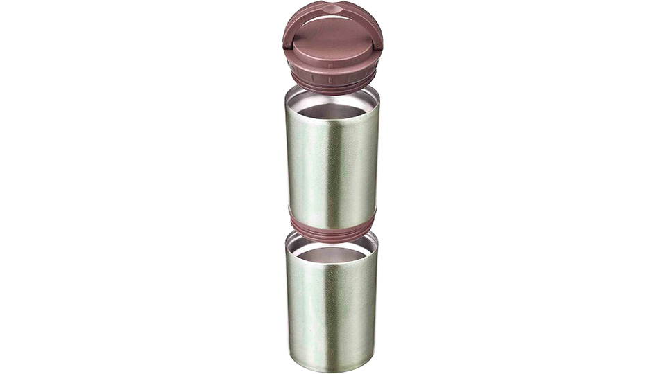 Photo of Multi-functional vacuum insulated stainless steel bottle that can hold two cans and PET bottles as they are and keep them cool