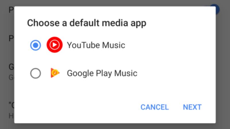 GoogleMapで音楽アプリを選ぶ画面