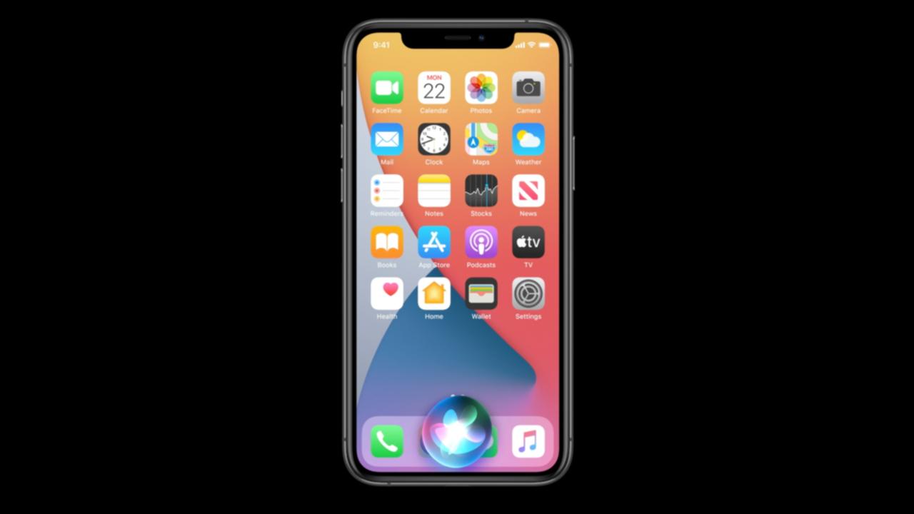 iOS14のSiriの画面