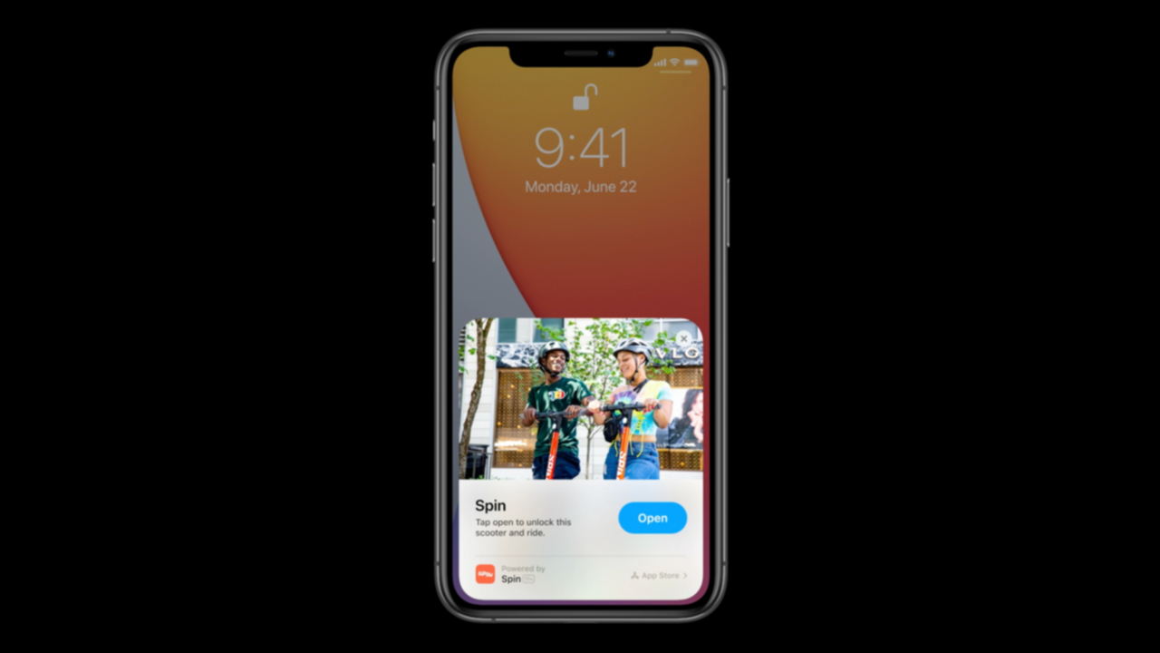 App Clipsの画面