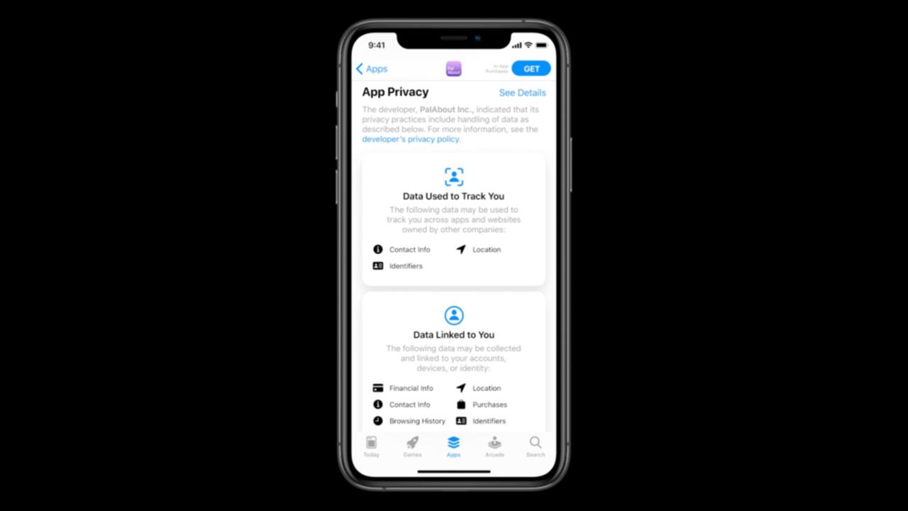 App Storeのアプリのプライバシー情報