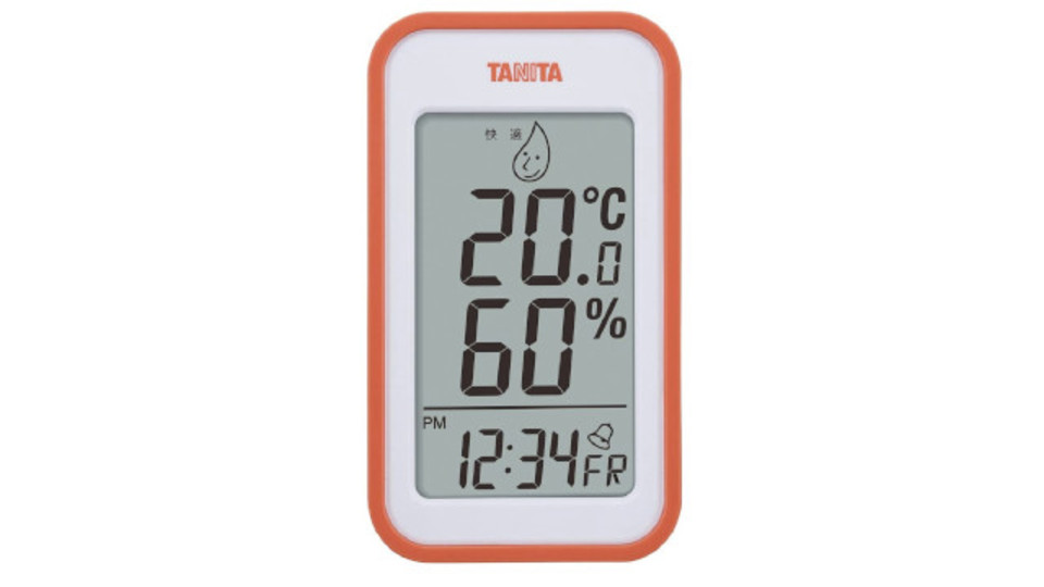Photo of Heat stroke measures. Tanita's thermo-hygrometer, which can quickly check the temperature and humidity in the room, will help save energy.
