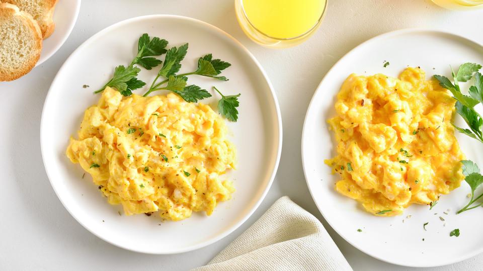 Photo of A good idea before baking the scrambled eggs!