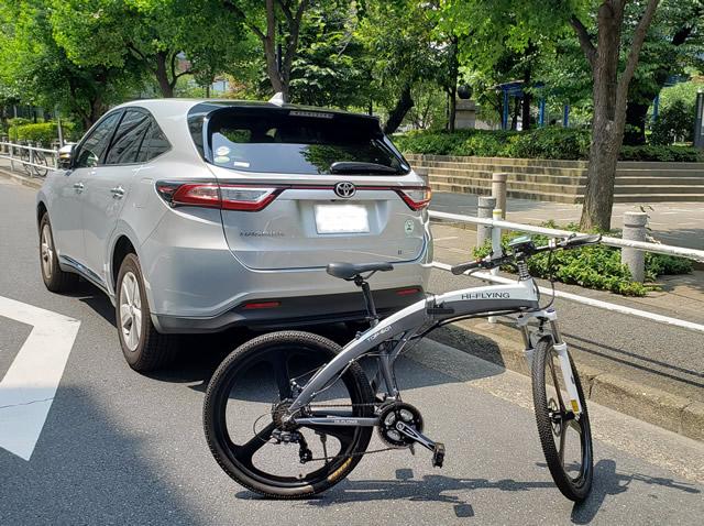 自転車と車1